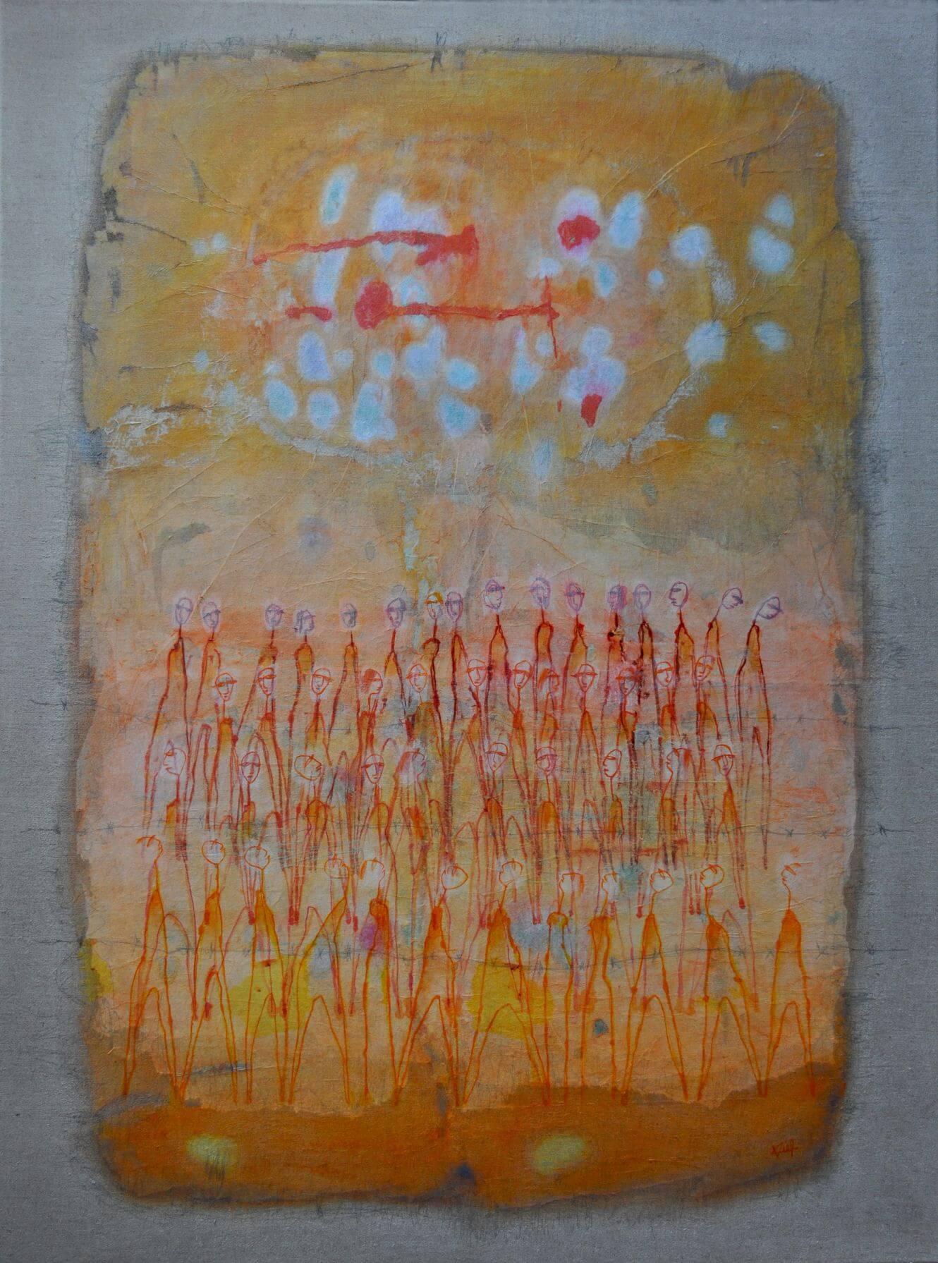 Barbara Viel - Sous le même soleil - 2017 - 81 x 100 cm